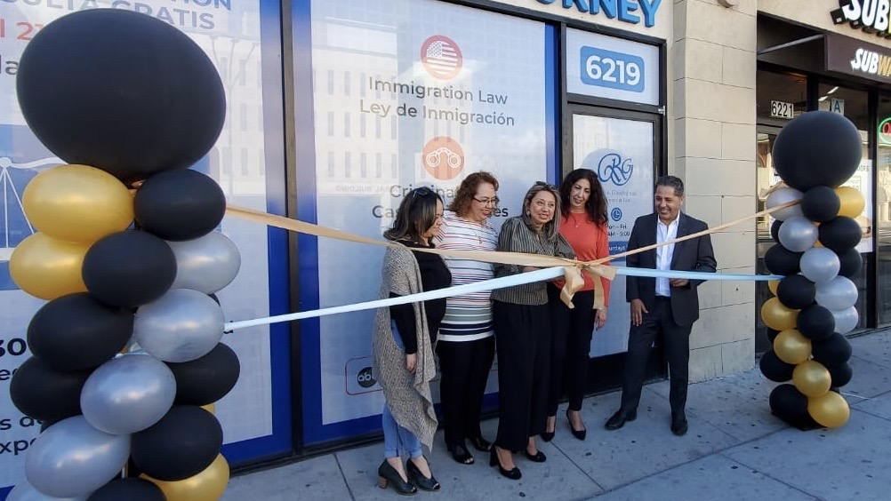 Ribbon Cutting Ceremony. Immigration Attorney Ramin Ghashghaei opens new office in Van Nuys, CA